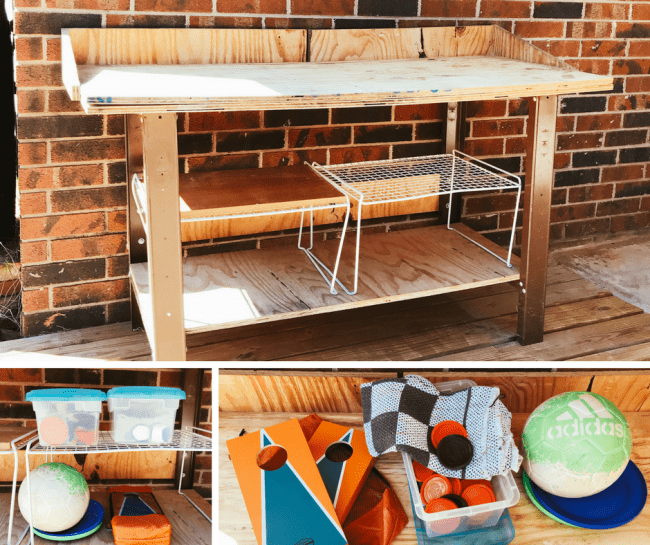 Potting Bench turned game bench