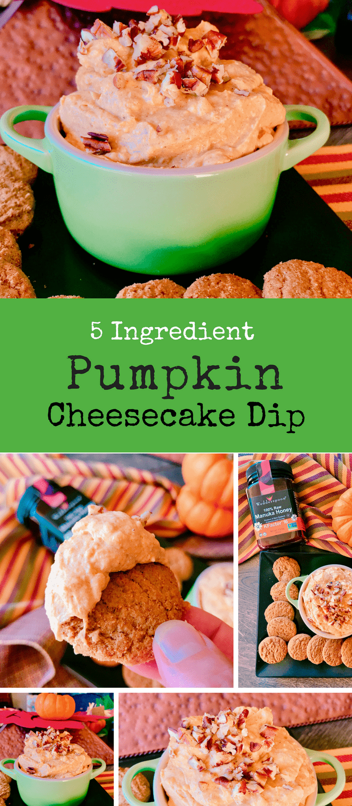 5 Ingredient Pumpkin Cheesecake Dip